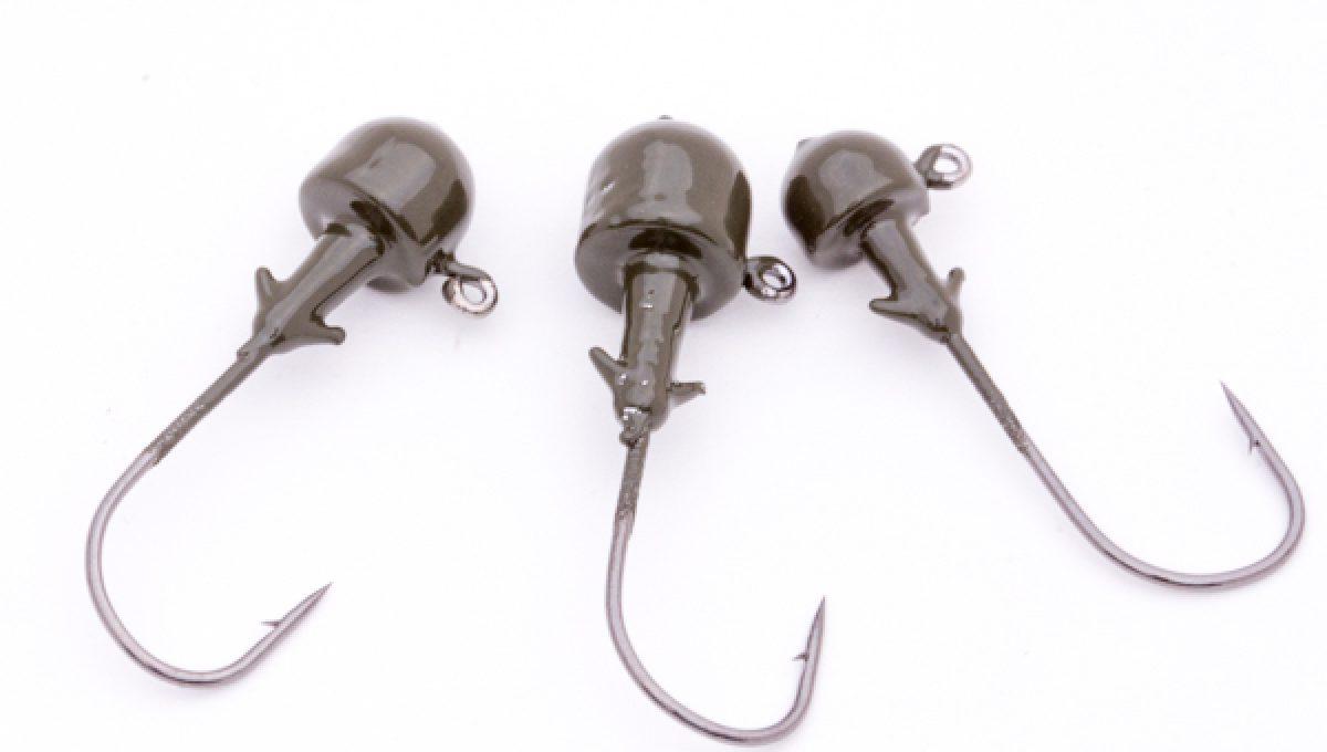 Ned Head Lead Hooks - Blk/Nickel - 5pk